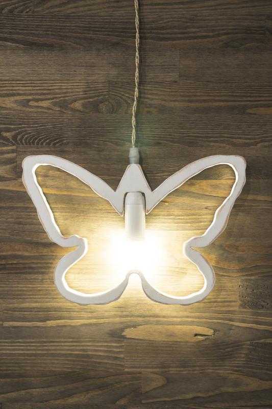 Декоративный подвесной светильник бабочка