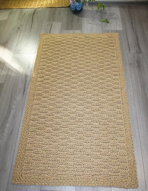 Коврик, Коврик из джута, Циновка прямоугольная (130х70см)