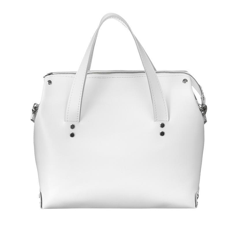 bbb255059aec Женская белая кожаная сумка ручной работы купить в Украине. №54601