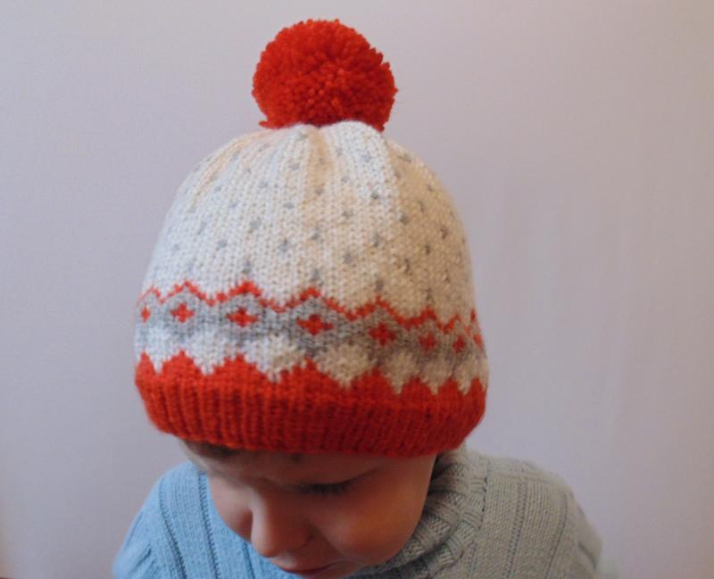 Зимняя детская шапка с помпоном