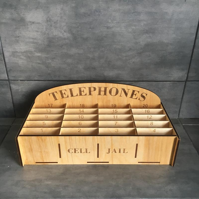 Коробка ящик органайзер для мобільних телефонів в клас | Коробка органайзер для мобильных телефонов