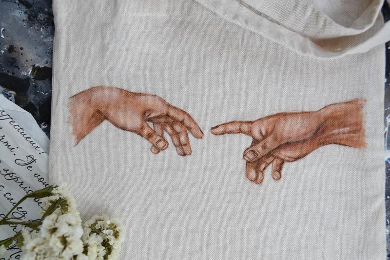 """Эко-сумка """"Сотворение Адама"""""""