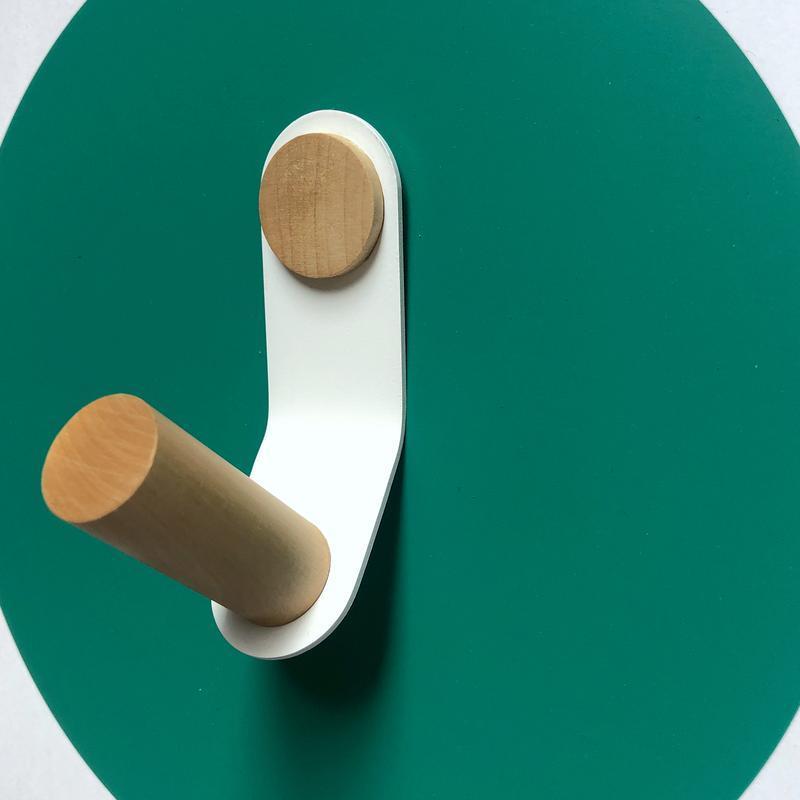 Крючок настенный Скло+Глас, белый