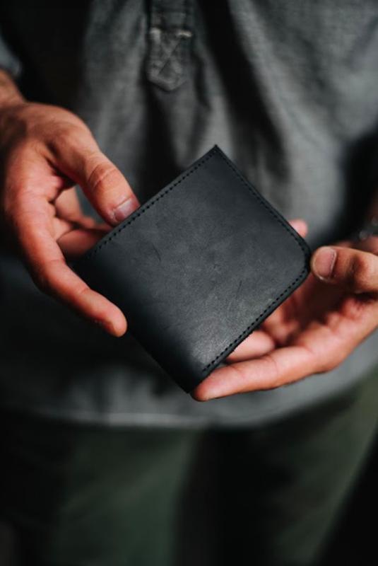 Кошелек , винтажный кошелек из натуральной кожи, бумажник для парня, мужчины