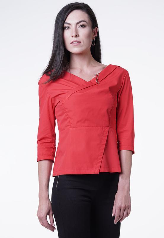 Блуза ассиметричная с молнией