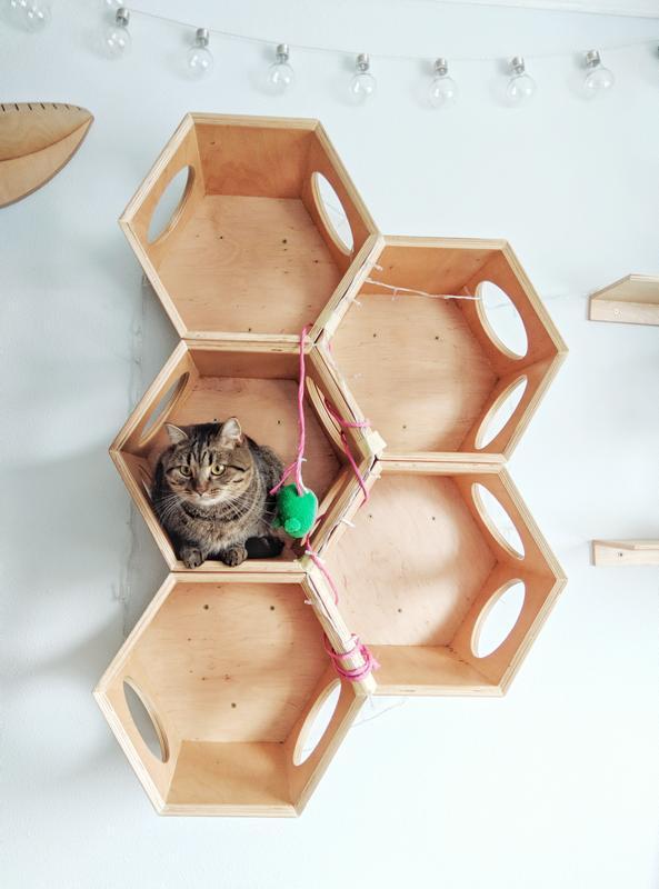 Дом DeKit.ua настенный Ufo SOTA для кошек и котов