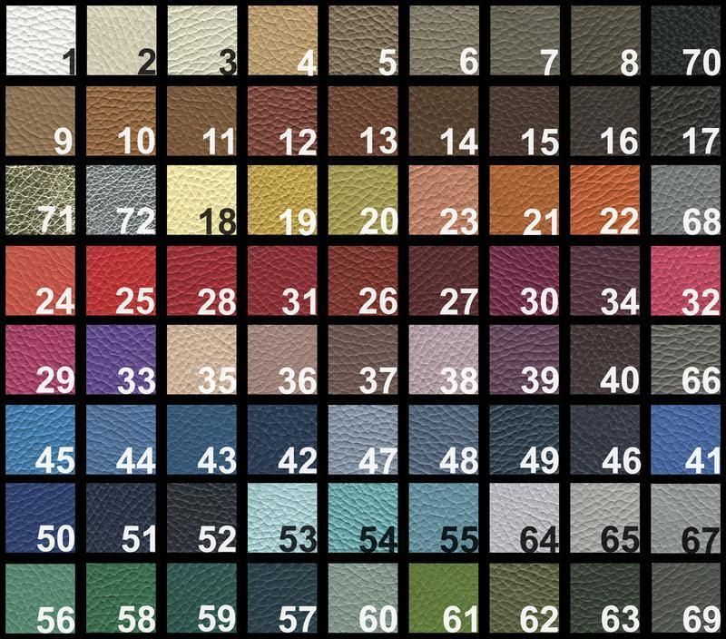 Пенал для ручек и карандашей с хлопковой подкладкой из итальянской кожи в 72 цветах