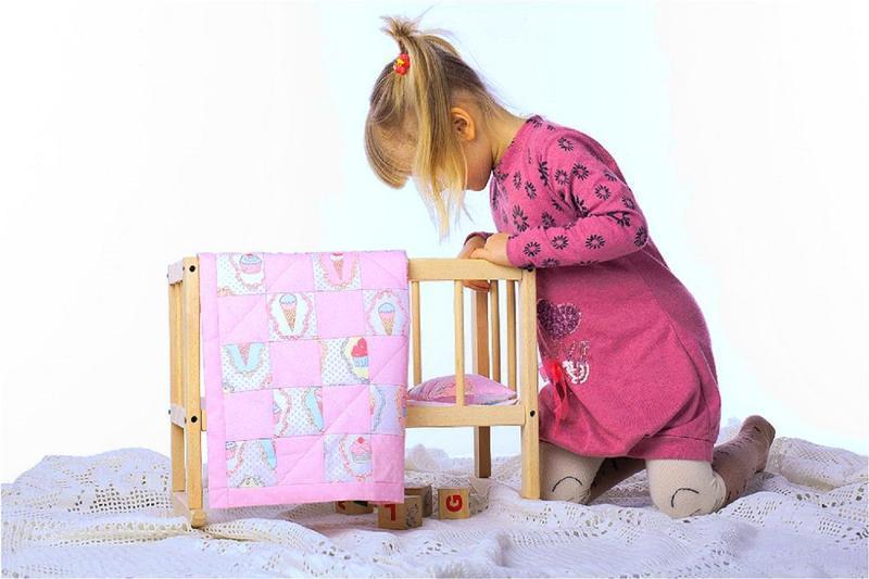 Рожева постіль для ляльок Подарунок для дівчинки на день народження Лялькова постіль