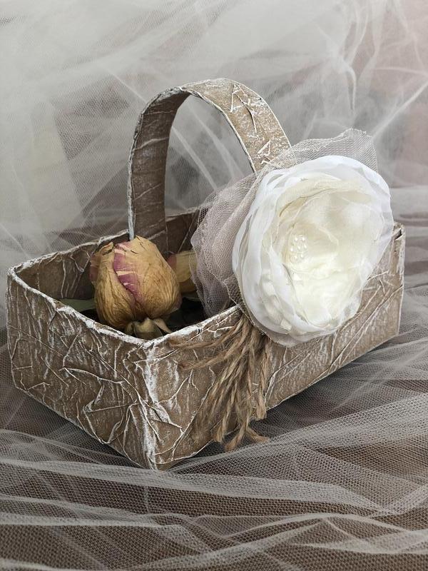 Корзина для лепестков на свадебную церемонию