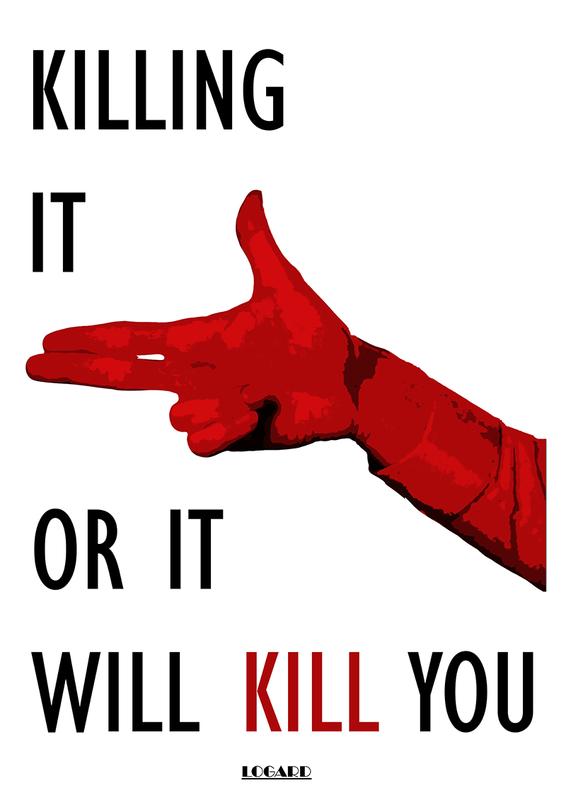 Мотивационный постер Убей это, или оно убьет тебя