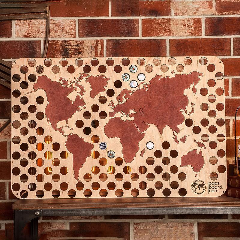 Карта для пивных крышек CAPSBOARD WORLD