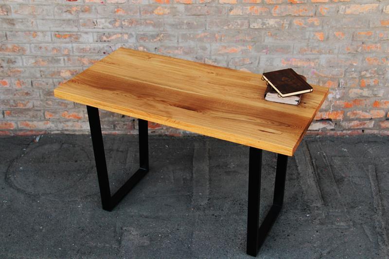 Деревянный Дизайнерский Стол В Стиле Лофт Loft В Офис Зал Спальню Прихожую С Металлическими Ногами