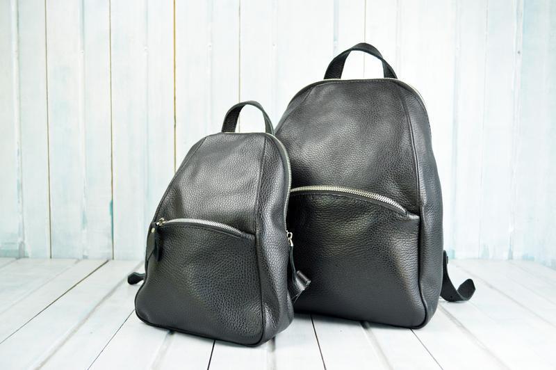 Черный кожаный рюкзак Family Look