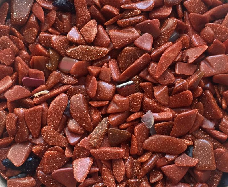 Натуральный камень крошка Авантюрин 4-9 мм 10 гр