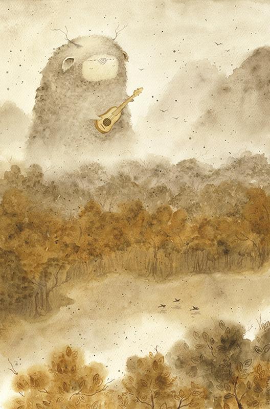 Открытка акварельная (печать). Осень.