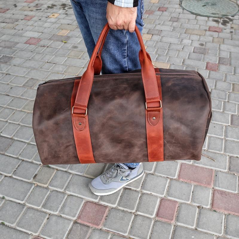 Дорожная кожаная сумка Tube v 2
