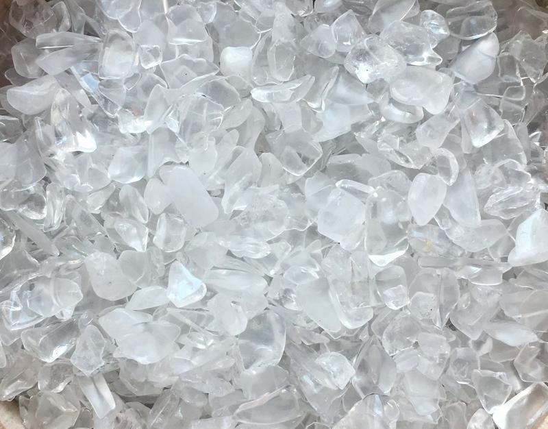 Натуральный камень крошка Горный хрусталь 4-10 мм 10 грамм
