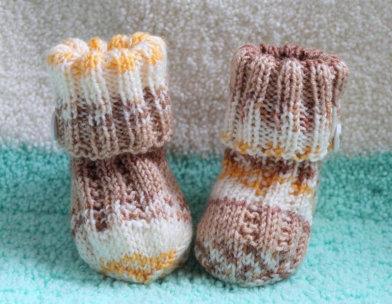 Меланжевые вязаные носочки baby wool
