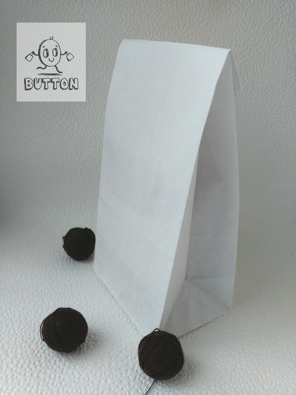 Пакет без ручок білий, розмір 240/120/80мм