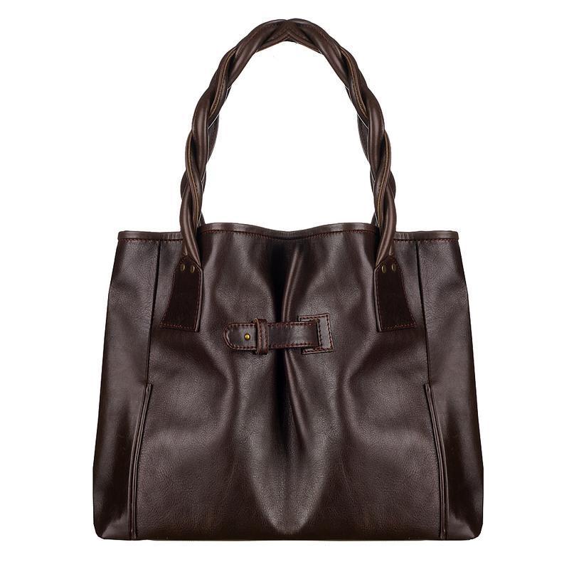 4645899865b2 Большая коричневая женская кожаная сумка ручной работы купить в ...