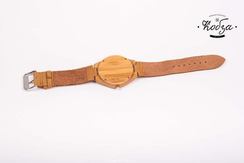 Бамбукові та шкіряні Годинник, Чоловічі / Жіночі годинники, натуральний бамбук дерев'яні і екологічно чистий