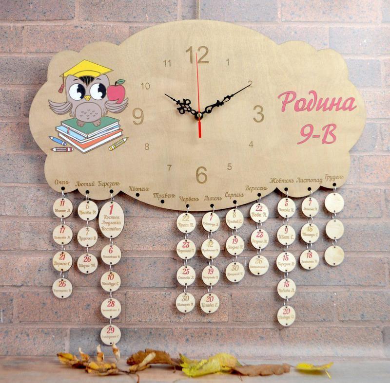 Календарь дни рождения - часы для класса