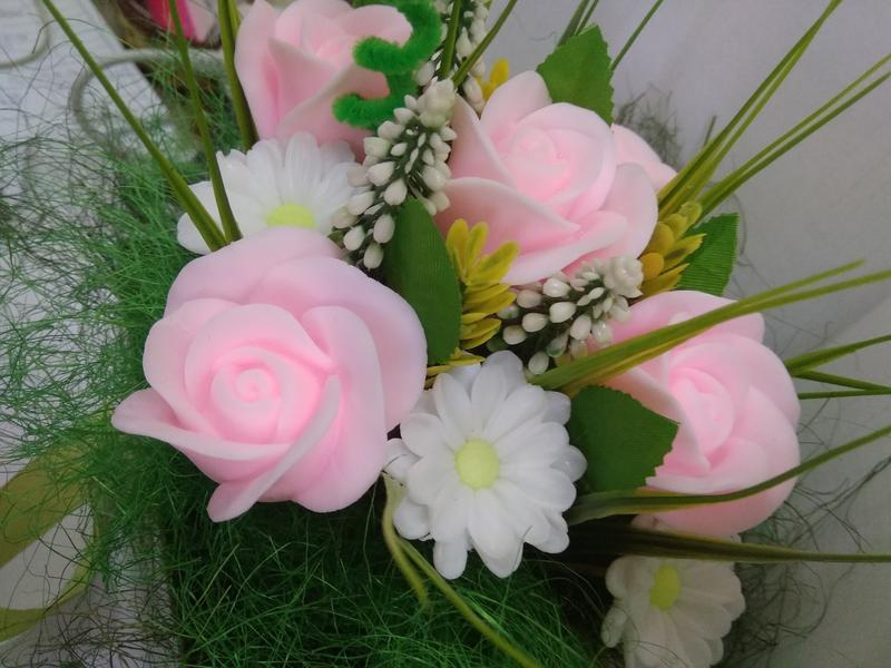 Мыльный букет из роз