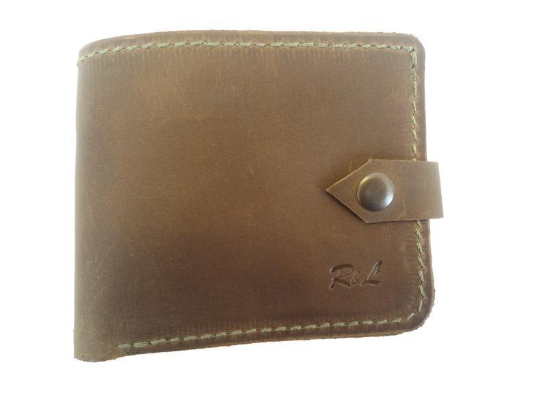 Масивний оливковий шкіряний гаманець х9 (10 кольорів)