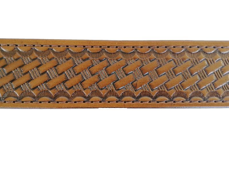 Шкіряний коричневий ремінь «Велика корзинка» (12 кольорів)