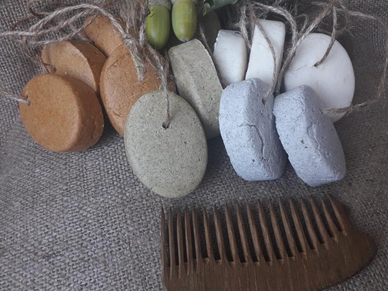 Твердый  шампунь-концентрат  для сухих волос /МОЛОЧНЫЙ/