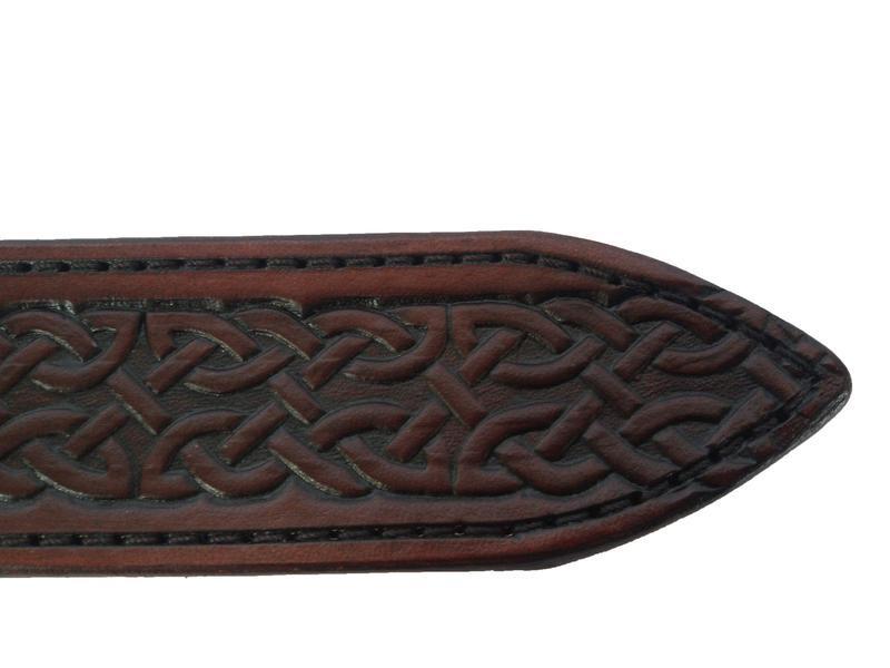 Шкіряний ремінь махагон «Кельтас» (12 кольорів)