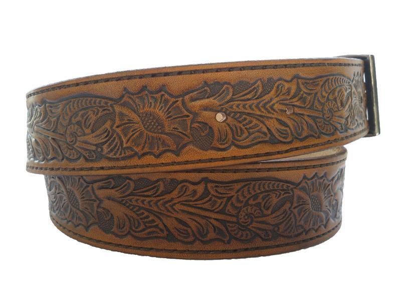 Шкіряний ремінь світло-коричневий «Шерідан» (12 кольорів)