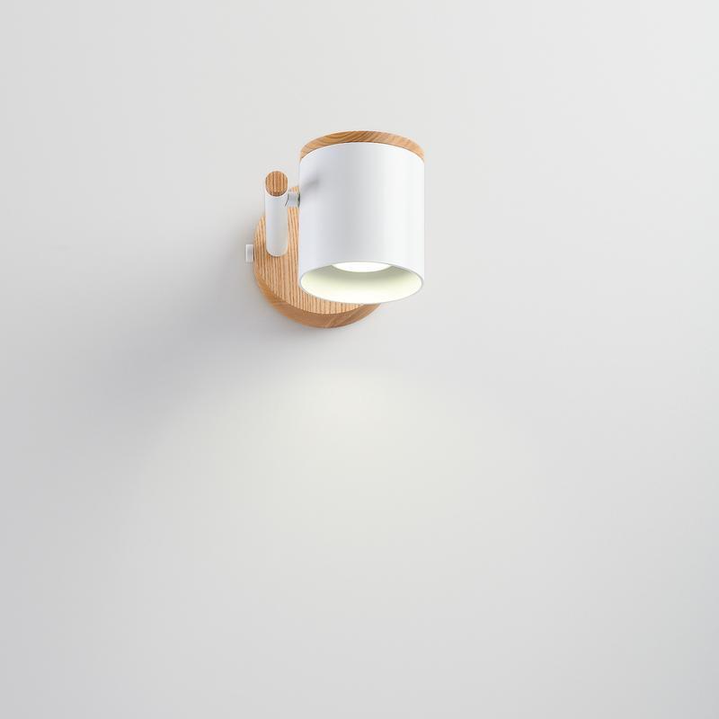 Настінний Бра (світильник) в стилі лофт, метал і ясен