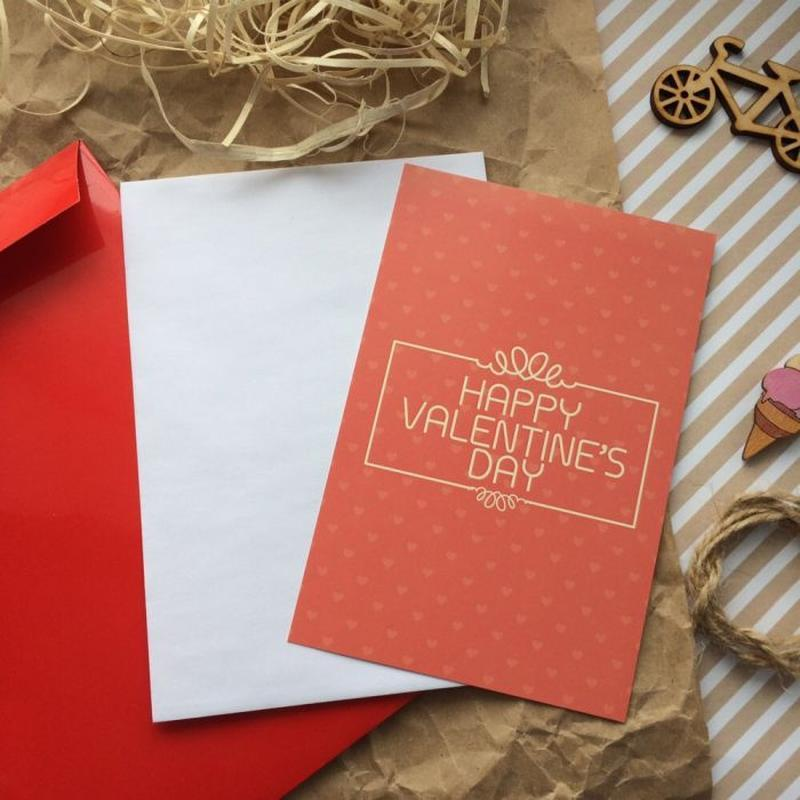 """Листівка """"Happy Valentines Day"""""""