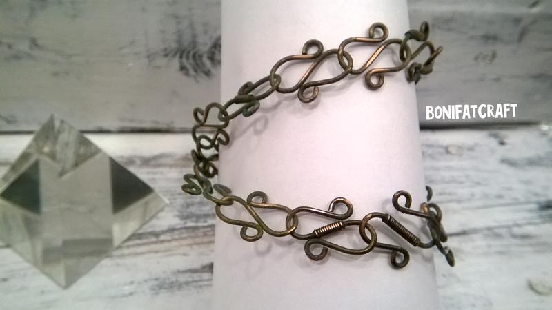 Wirewrap медный браслет-колье-трансформер 3 в 1