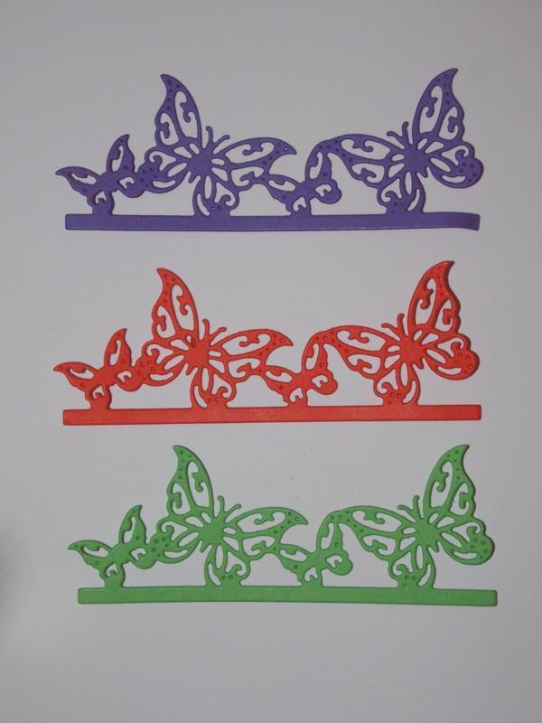 "Висічка-бордюр ""Метелики"" 10*4см"