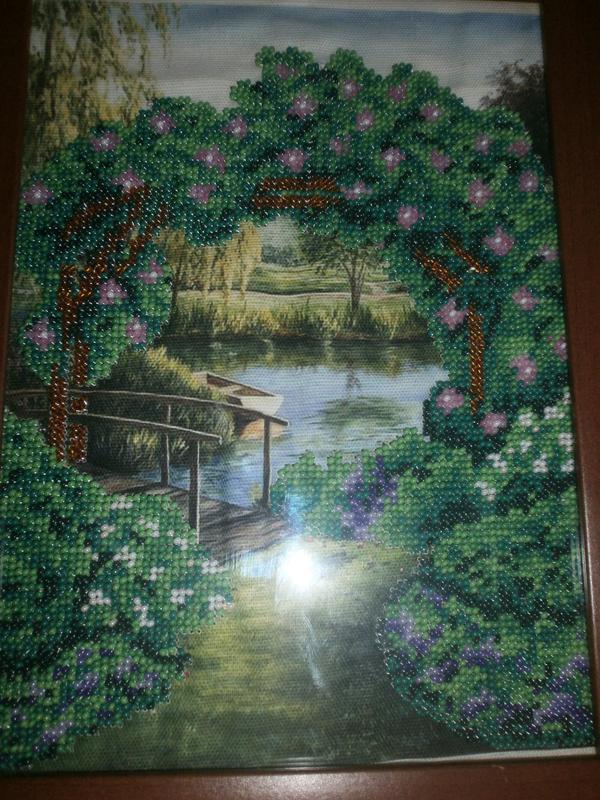 """Картина """"Квіткова арка"""" ручна робота."""