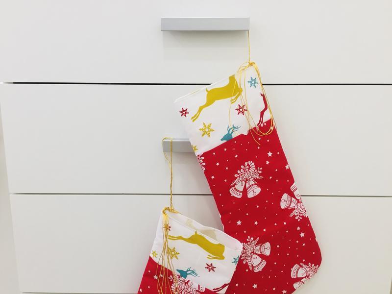 Новогодний сапожок-рождественский носок-сапог для подарков-новогодний декор