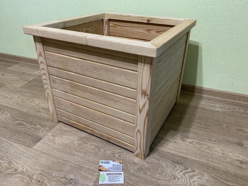 Кашпо деревянное для туи из Лиственницы Сибирской