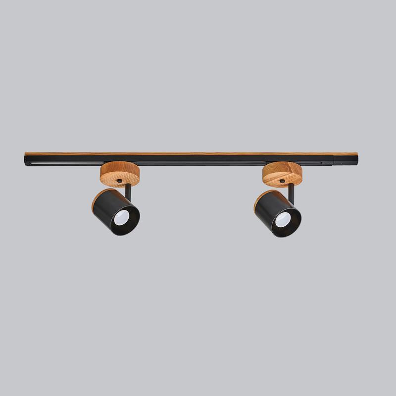 Светильник трековый лофт ( цвет белый,черный) Urban Dream металл, ясень