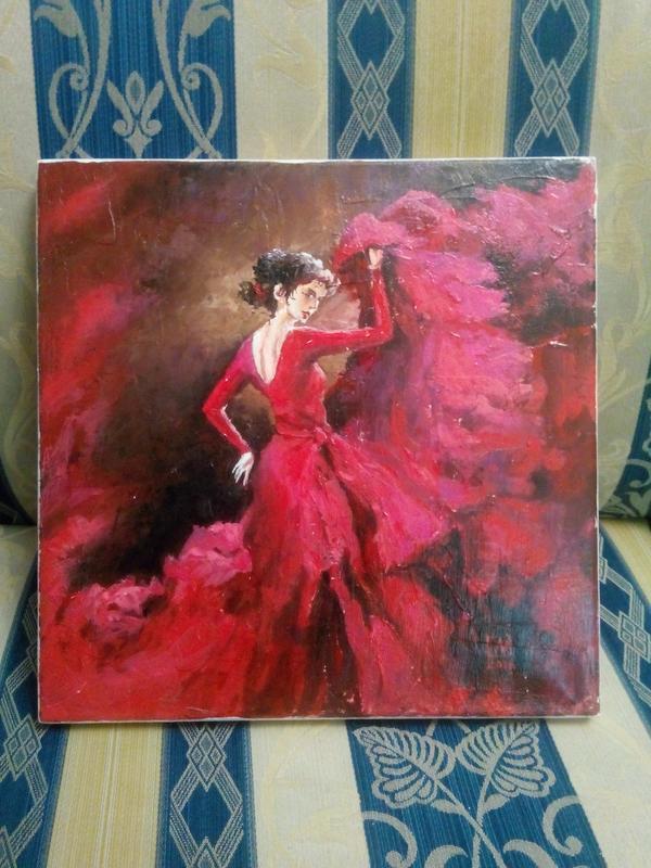 """Картина """"Танцівниця"""" 30х30 см"""