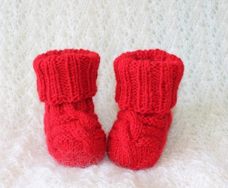 Красные носочки из альпаки