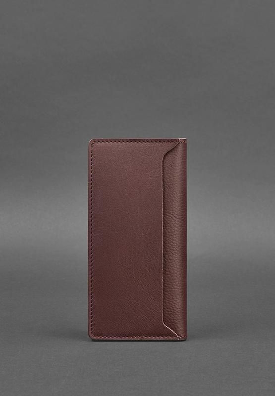 Кожаное женское портмоне-купюрник 11.0 бордовое