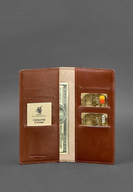 Кожаное портмоне-купюрник 11.0 светло-коричневое