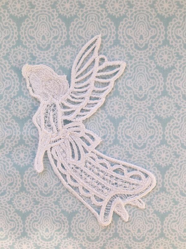 Вишивка підвіска ангел летить