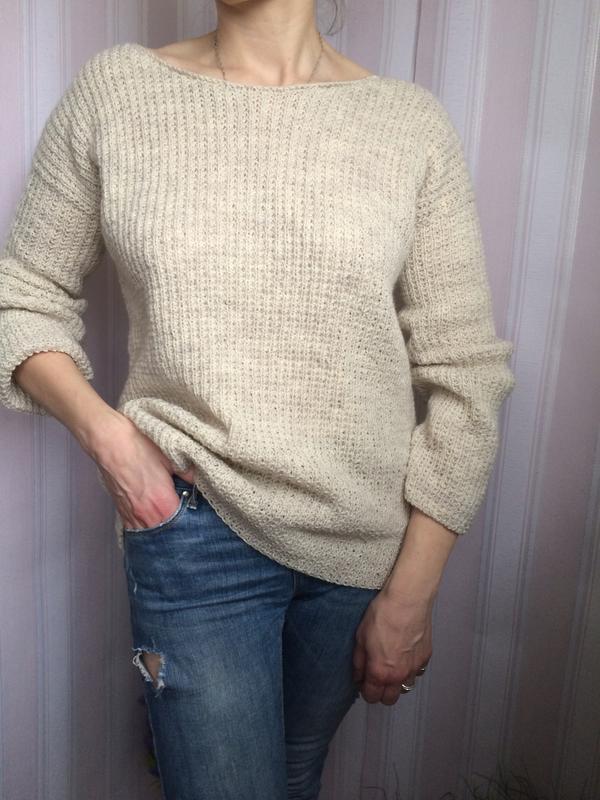 светр ручної в'язки