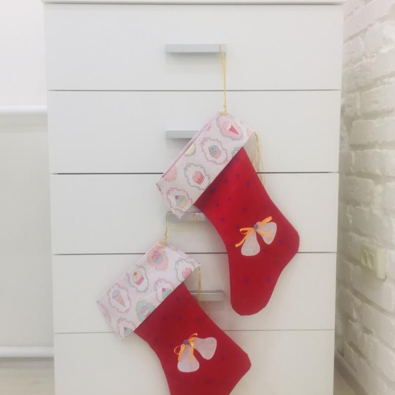Новогодний сапожок-сапог для подарков-рождественский декор-рождественские носки для подарков
