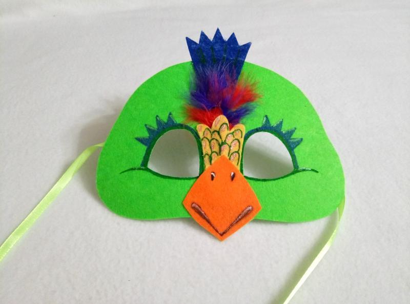 маска попугая своими руками