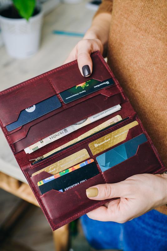 Большое кожаное портмоне, женский кошелек кожаный, портмоне женское, женский органайзер,кошельки