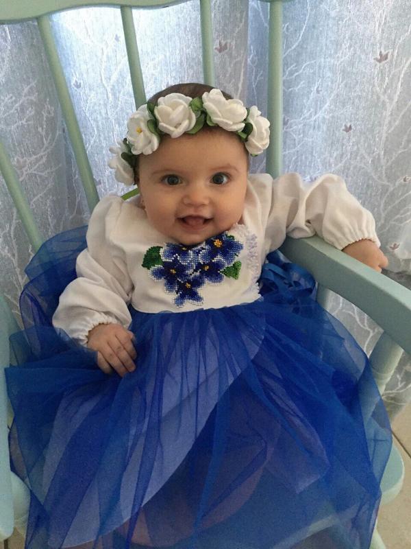 дитяче плаття з фатином
